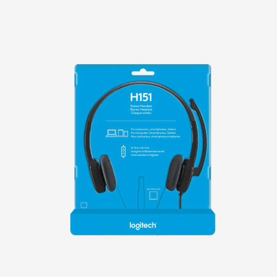 Logitech H151 Headset Noise-Cancelling Mic